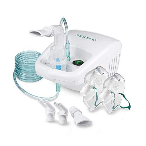 Medisana IN 500 Inhalator, Kompressor Vernebler mit Mundstück und Maske für Erwachsene und Kinder,...