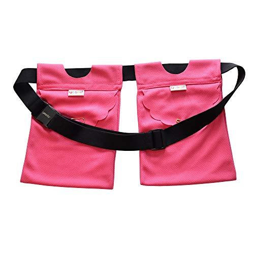 Yesito Mastektomie-Ablaufbeutel und Duschstütze, verstellbar, Rosa (Pink 1)