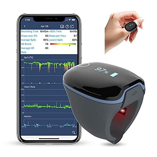 Fingertip-Schlafmonitor,Sauerstoffsättigungs-Monitor,Gesundheitsmonitor,der niedrige SpO2-Werte und...