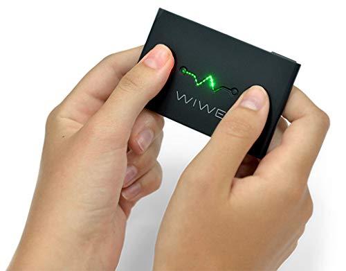 WIWE EKG Messgerät mit HRV schwarz - mobiler und Flexibler Herzmonitor