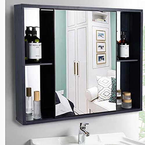 BAIHAO Wandspiegel für Badezimmer mit Metallschrank, Multifunktions-Organizer-Medizinschrank mit...