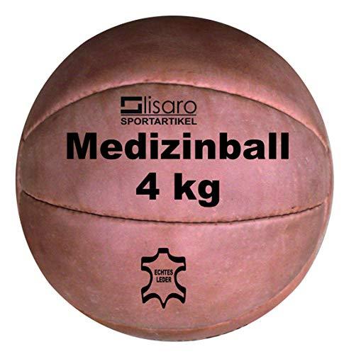 Lisaro Medizinball aus Leder/Functional Fitness Medizinball aus Leder Gr. 4 kg