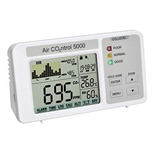 TFA Dostmann 31.5008.02 AIRCO2NTROL 5000 CO2-Messgerät mit Datenlogger, L90 x B70 x H165 mm