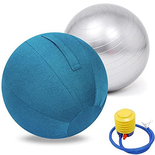 Sitzball TrainingsballYoga Ball Pilates Gymnastikball Anti-Burst Fitness BäLle, Sitzball...