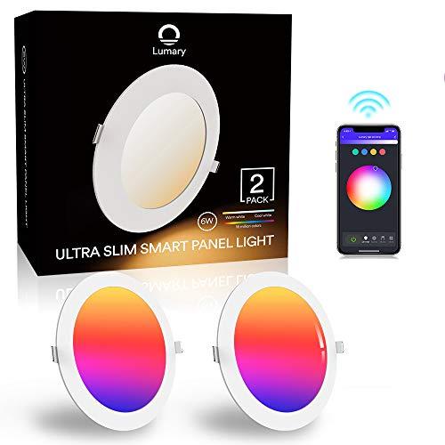 LED-Deckenleuchte, ultra-dünn, 6 W, 480 lm, Lumary, LED-Einbauleuchte, mit App-Steuerung,...