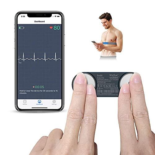 ViATOM EKG Gerät, Persönliche EKG Gerät, Kabellos Tragbarer Brustgurt-Herzgesundheits Tracker,...
