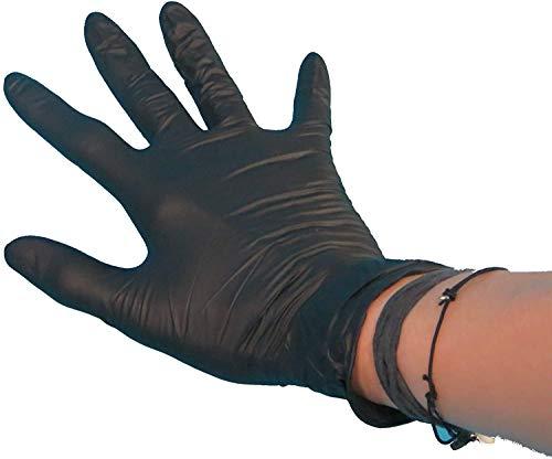 100 Latex Einweghandschuhe Einmalhandschuhe Latexhandschuhe Einweghandschuhe schwarz...