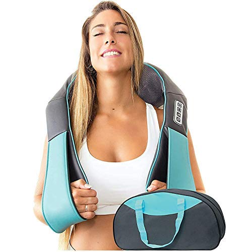 Nackenmassagegerät mit Wärmefunktion - Shiatsu Massagegeräte elektrisch - Massagegerät Schulter...