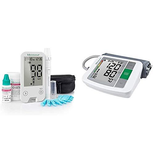 Medisana MediTouch 2 Blutzuckermessgerät mg/dL, Starterset mit Teststreifen und Blutlanzetten,...