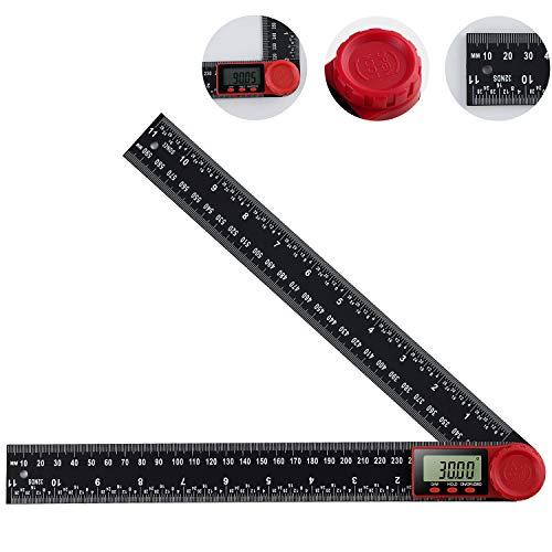 Digital Winkelmesser, Lineal Digital Goniometer mit LCD Display, Messbereich: 0°~360°,Messwerkzeug...