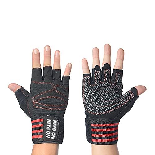 Klobvtt Fitness-Handschuhe Männlicher Halbfinger Gewichtheberhandschuh Trainingsgeräte...