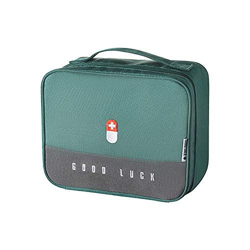 Adisputent Erste Hilfe Set Medikament Tasche Notfalltasche Große Kapazität Medizinbox Tragbar...