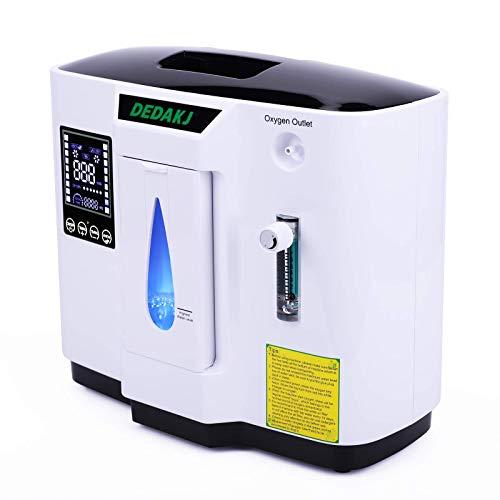 DEDAKJ Sauerstoffkonzentrator 1-7L / min O2 Generator Tragbarer intelligenter für Heimmaschinen 93%...