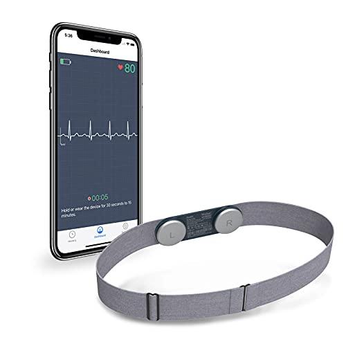 Wellue DuoEK Bluetooth EKG-Monitor, Tragbarer Brustgurt, Kabelloser Herz-Gesundheitsmonitor mit...