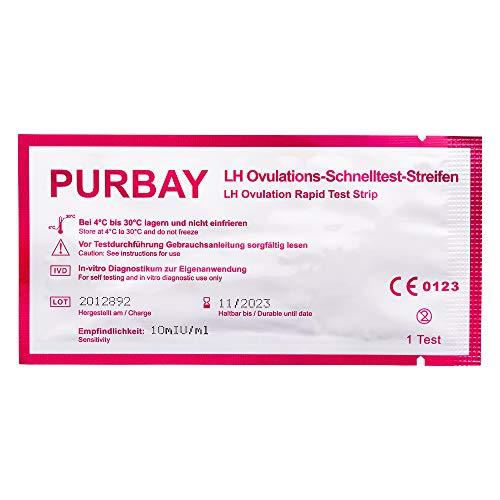 Purbay 50x Ovulationstest - Teststreifen zur Babyplanung - Frauen Fruchtbarkeitstest - Kinderwunsch...