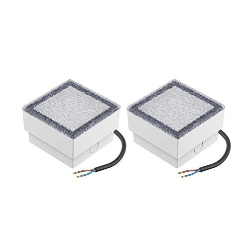 parlat LED Stein Bodeneinbauleuchte CUS 10x10cm 230V warm-weiß, 2 Stk.