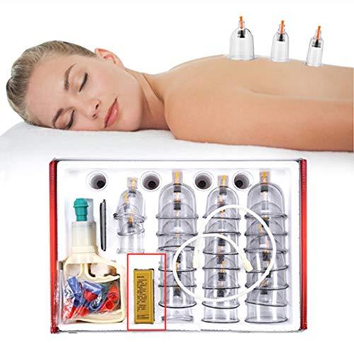 Chinesisches Schröpf-Set, professionelle Schröpftherapie, 32 Tassen, Massage, Schmerzlinderung,...