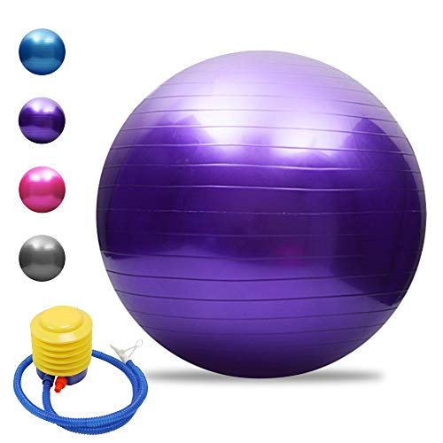 Irfora Anti-Burst Yoga Ball Verdickte Stabilität Gymnastikball Geschenk Luftpumpe Pilates Barre...