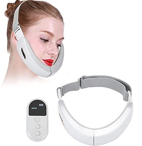 Elektrisches V Face Shaping Massagegerät mit Blaulicht & Rotlicht, EMS Gesichts Massagegerät Face...