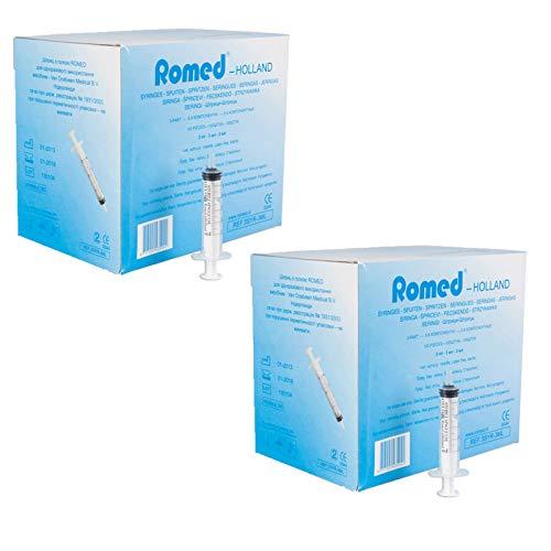 Romed Einmalspritzen steril 3-teilig 2er SET 2-3 ml (200 Stück)