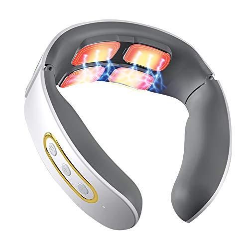 Intelligentes Nackenmassagegerät, Elektrisches Puls Nackenmassagegerät mit Wärmefunktion, Elektro...