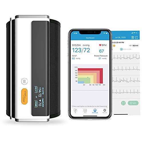 Wellue Armfit Plus Blutdruckmessgerät mit EKG-Funktion, Bluetooth Oberarm-Blutdruckmessgerät für...