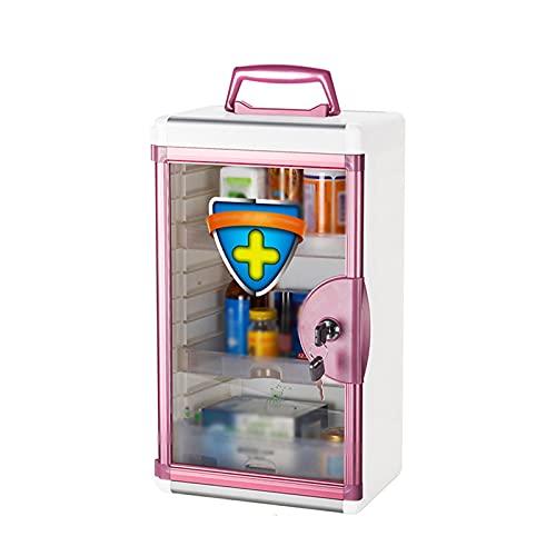 LANGCA Erste-Hilfe-Kit, Aluminiumlegierung Wandmontierter Dual-Zweck-Medizin-Aufbewahrungsbox,...