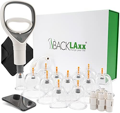 BACKLAxx ® Schröpfgläser mit Vakuumpumpe - Hochwertige medizinische Schröpfen mit...