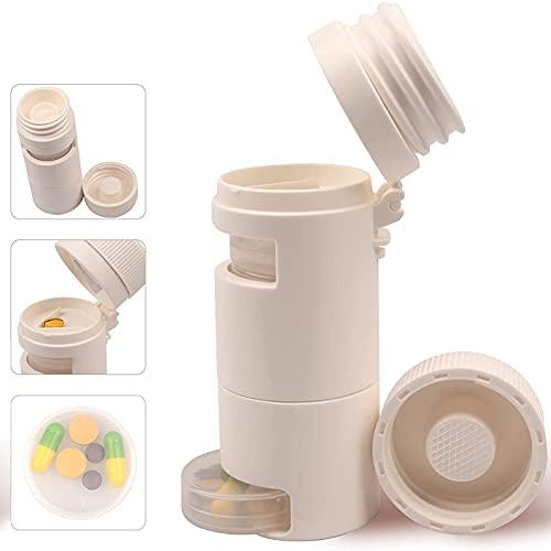 iPucool Tablettenteiler, 3-In-1Multifunktionale Pill Cutter Splitter Runde Pillenschneider...