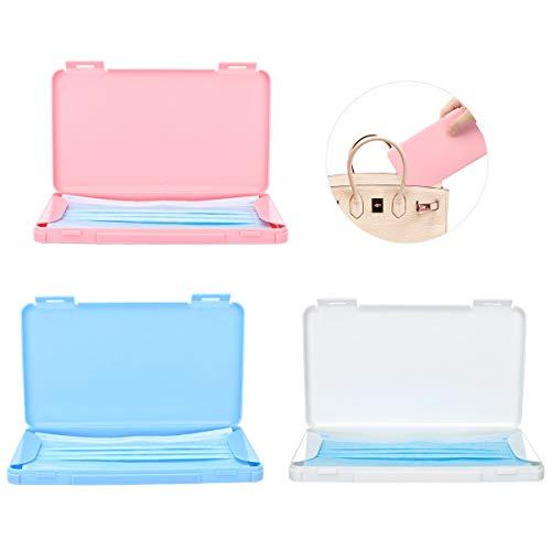 MoKo Maske Aufbewahrungsbox, 3 Pack Tragbare Maskenbox Wiederverwendbar Masken Etui Staubdichte...