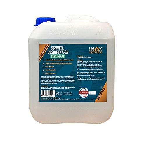 INOX® Hände Desinfektionsmittel ohne Alkohol, 5L - Händedesinfektion Handdesinfektionsmittel...