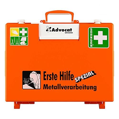 SÖHNGEN Erste-Hilfe-Koffer Advocat Metallverarbeitung, Wandhalterung, orange, DIN 13157