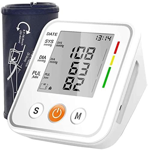 Oberarm-Blutdruckmessgerät, Handgelenk-Blutdruckmessgerät, mit großer LCD-Anzeige 2 Benutzer 198...