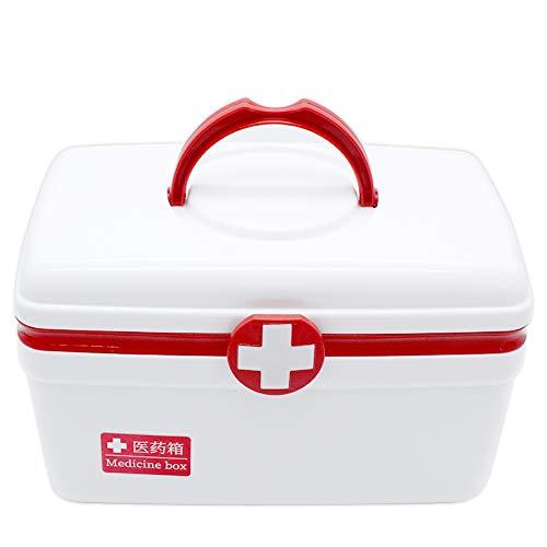 Medizinbox Hausapotheke, ZoneYan Medizinkoffer Tragbar, Erste Hilfe Box, Kunststoff-Medizinbox,...