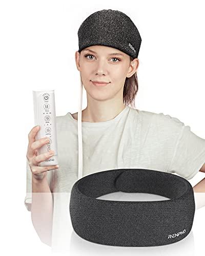 RENPHO elektrisches Kopfmassagegerät mit Wärme zur Linderung von Kopfschmerzen. Wiederaufladbar...