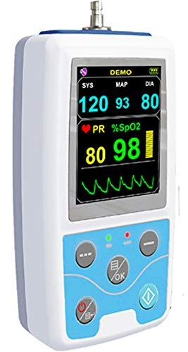 Langzeit Blutdruckmessgerät 24 Stunden mit SpO2 Sensor - farbige Darstellung der Geräteauswertung...