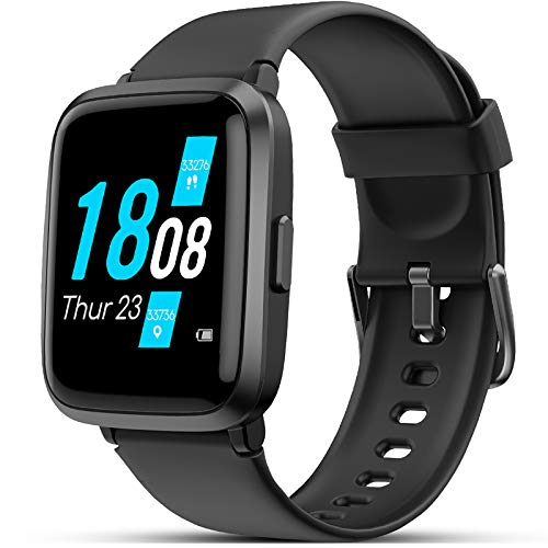 LIFEBEE Smartwatch, Fitness Armband mit Blutdruckmesser Pulsoximeter Blutsauerstoff-Monitor(SpO2)...