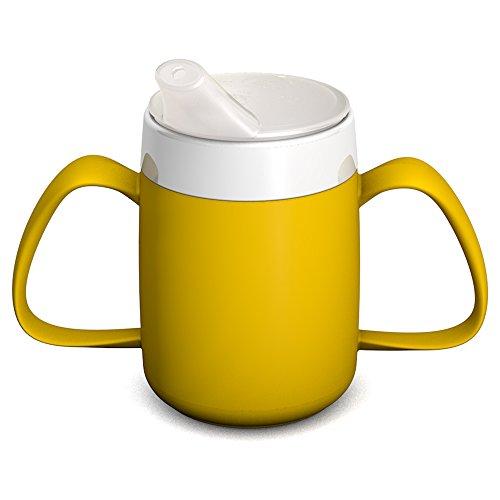 Ornamin 2-Henkel-Becher mit Trink-Trick 140 ml gelb mit Schnabelaufsatz (Modell 815 + 806) /...