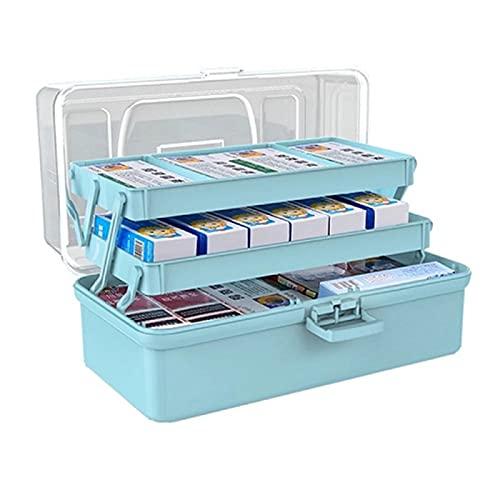 HuaShslt Plastikaufbewahrungsbox Medical Box Organizer 3 Ebenen Tragbare Medizinschrank Notfall...