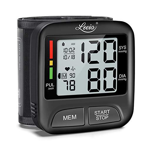 Digitale Handgelenk Blutdruckmessgerät - Lovia Blutdruckmessgerät Vollautomatische Blutdruck- und...
