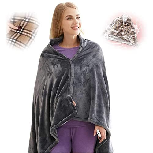 Elektrischer USB-Schal, beheizte Decke, schnurlos, heizt sich schnell auf, mit Tasche, für Zuhause,...