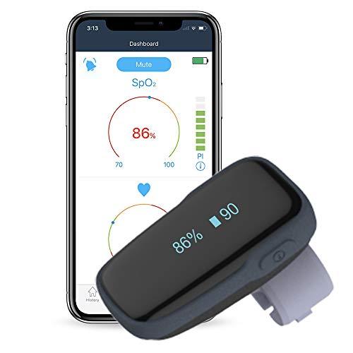 Tragbarer Schlafmonitor Bluetooth, Sauerstoffpegelmonitor mit akustischer Erinnerung am Gerät &...