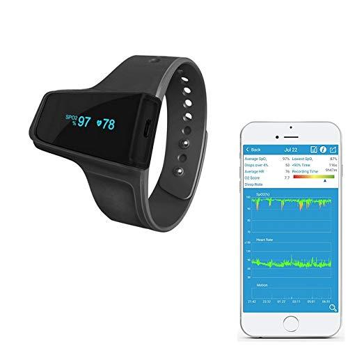 Trendmedic CheckmeO2 - Handgelenk Pulsoximeter - komfortabler SpO2 - Schlafmonitor mit speziellen...