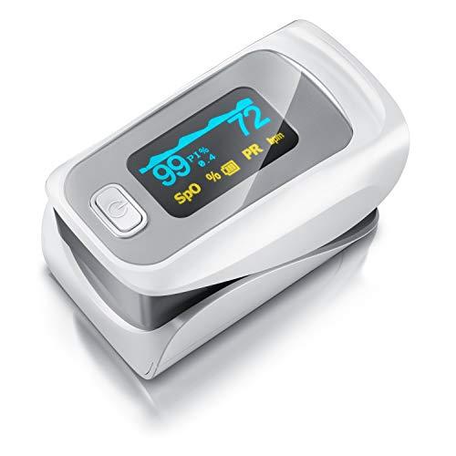 Medicinalis - Pulsoximeter Finger - SpO2 Pulsmesser – Fingerpulsoximeter - Messung von Puls und...