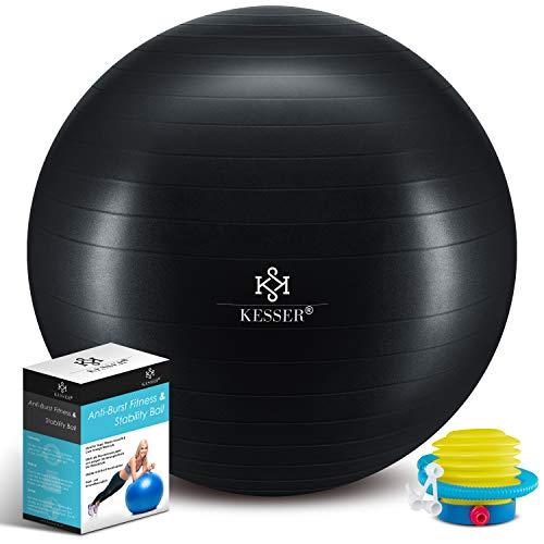 KESSER® Gymnastikball mit Luftpumpe Pumpe - Dicker Yogaball 65cm BPA-Frei   Sitzball Büro...