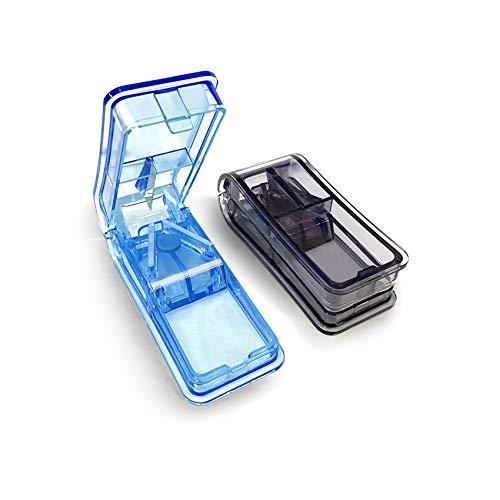 GeekerChip Tablettenteiler[2 Stück]für Große und Kleine Tabletten,Medikamententeiler mit...