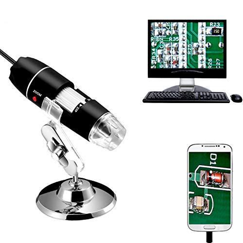 Jiusion 40-1000x Vergrößerung Endoskop, 8 LED USB 2.0 Digital Mikroskop, Mini Kamera mit OTG...