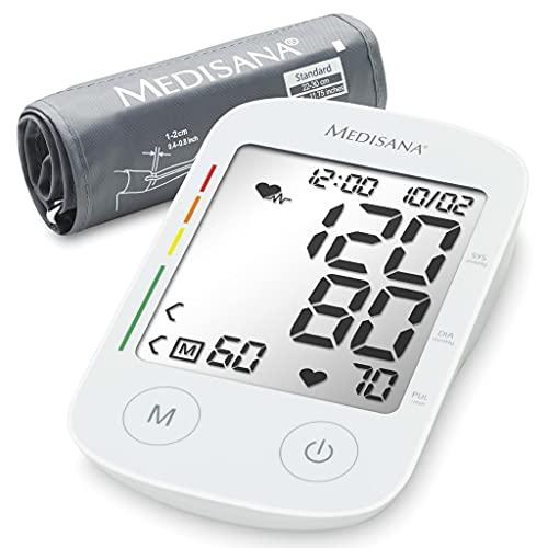 Medisana BU 535 Oberarm-Blutdruckmessgerät, Arrhythmie-Anzeige, WHO-Ampel-Farbskala, für präzise...