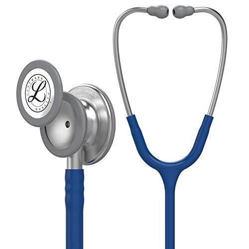 3M Littmann Classic III Stethoskop zur Überwachung, marineblauer Schlauch, 69cm, 5622