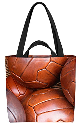 VOID Vintage Bälle Fussball Sport Tasche 33x33x14cm,15l Einkaufs-Beutel Shopper Einkaufs-Tasche Bag